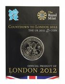 2011 COUNT DOWN TO THE OLYMPICS £5 COIN Short Version